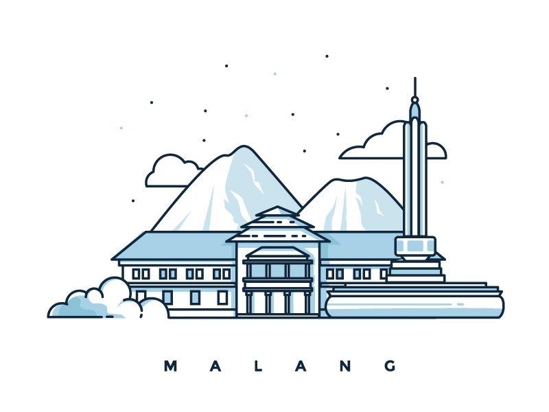 Malang Illustration City Icon Illustration Fun Illustration