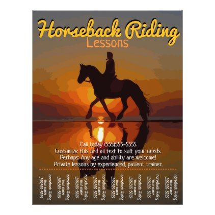 Horseback Riding Lessons Horse Boarding Trails Flyer Party