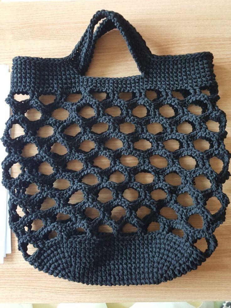 Hatto> Candy Puder Honeycomb Netzbeutel, Häkeltüte Herstellung: Naverble .... #singlecrochet