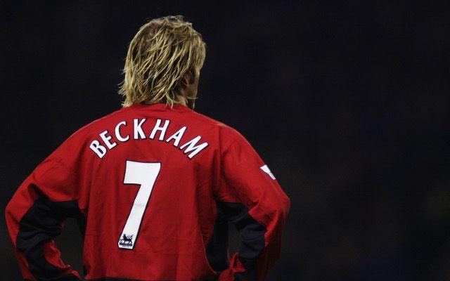 Image David Beckham Pictured In New Man United Shirt David Beckham David Beckham Pictures David Beckham Manchester United