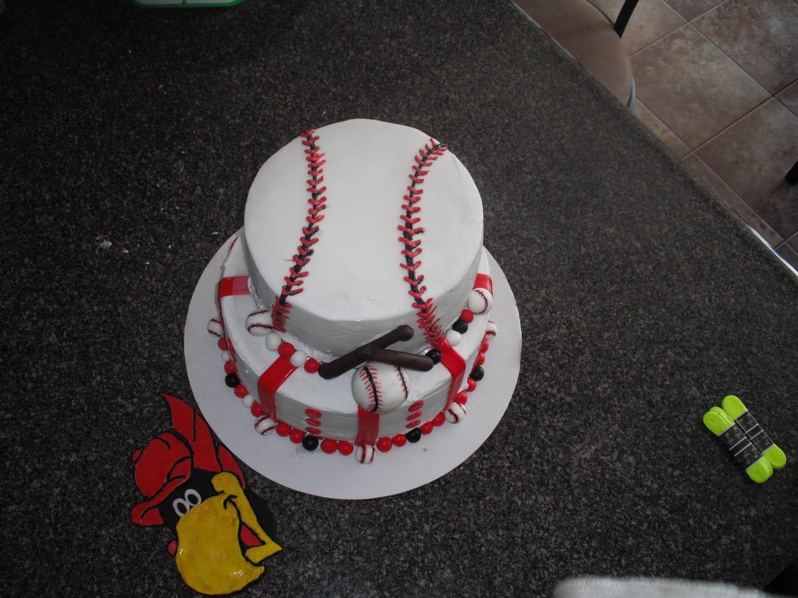 base ball cake idea | Sassy Sweets Cakes & Treats: Cardinals baseball cake