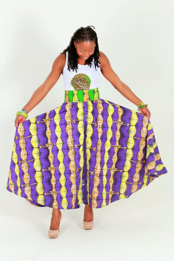 African Print Maxi Skirt, African Clothing , Ankara Print Maxi Skirt, African Long Skirt Ethnic African Clothing African Print Clothing