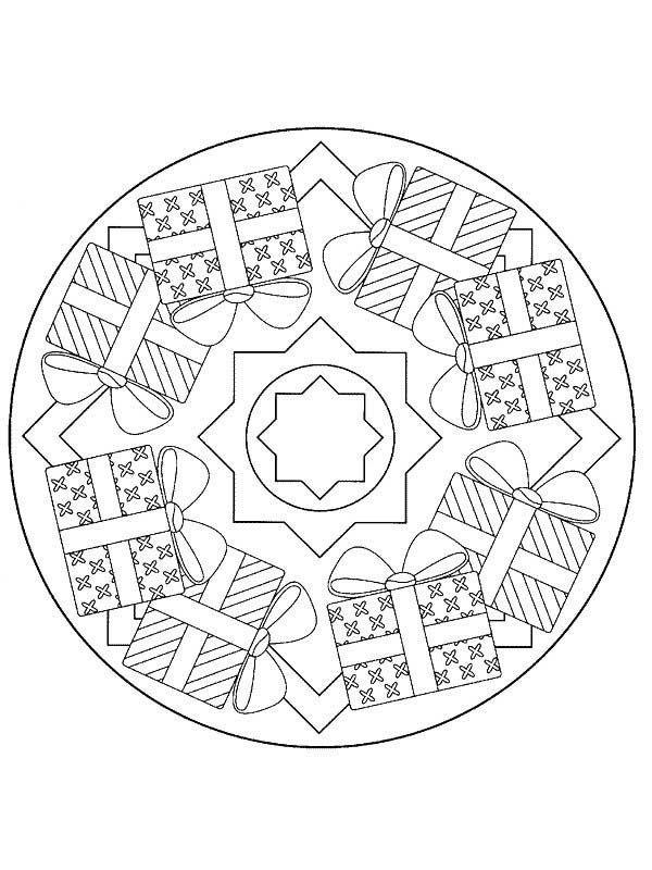 Christmas Presents Mandala Christmas Coloring Pages Best Place To Color Christmas Mandala Mandala Coloring Pages Christmas Coloring Pages