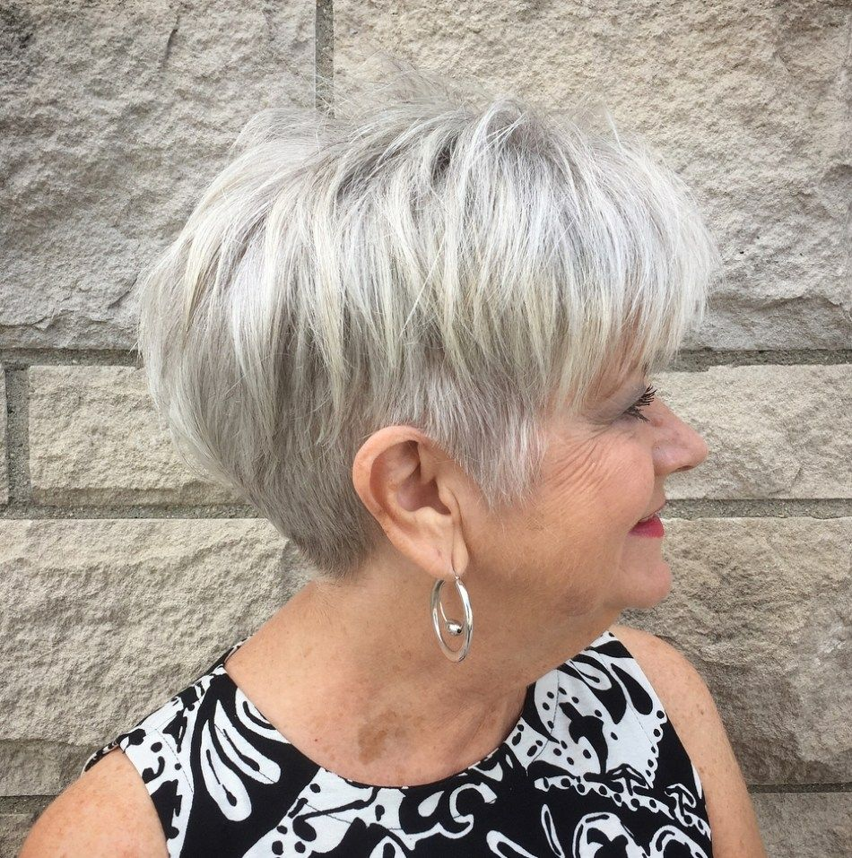 Piece Y Short Gray Style With Undercut Thick Hair Styles Chic Short Haircuts Short Hair Styles