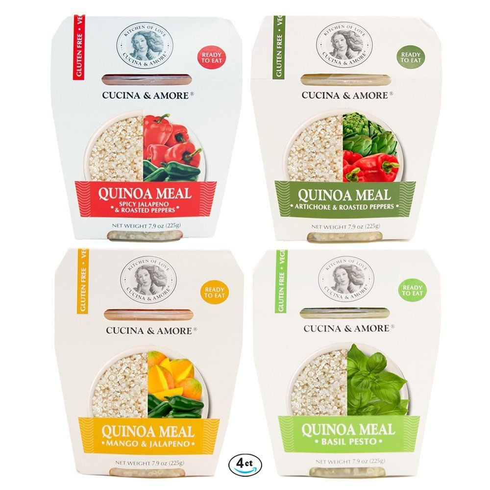 Cucina And Amore Quinoa Review Assortit Superfood Quinoa Meal Pack Variety Flavors Healthy Ready