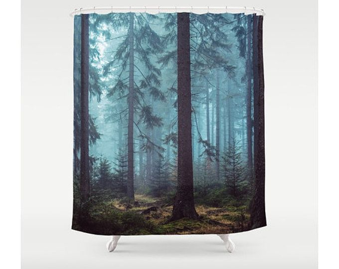 Shower Curtain, Trees Forest Wilderness Woods Wanderlust, Nature Bathroom  Decor, Bohemian Decor,
