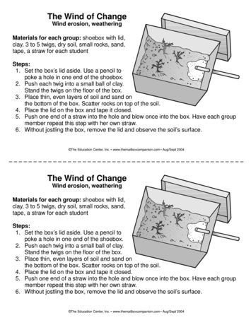Wind Erosion Experiment - The Mailbox | Science experiments