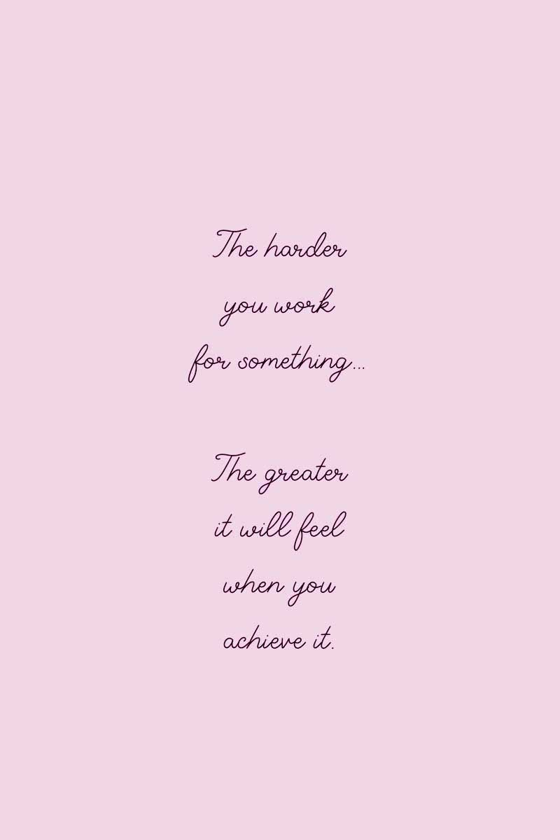 Pink Quote Work Motivational Quotes Pink Quotes Quotes