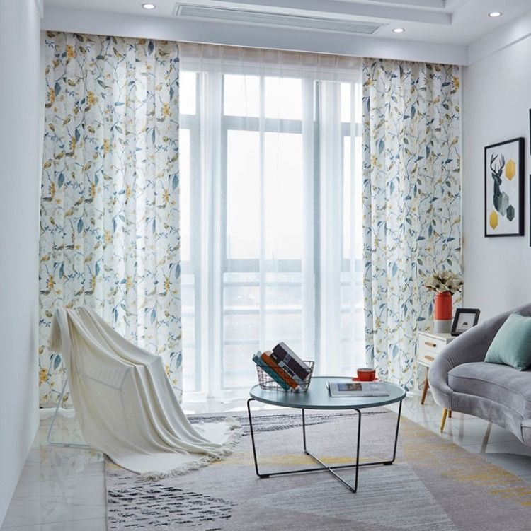 Rural Rustic Floral Thick Linen Printing Curtains Farmhouse Curtains Panel In 2020 Curtains Living Room Curtains Curtains Bedroom #thick #living #room #curtains