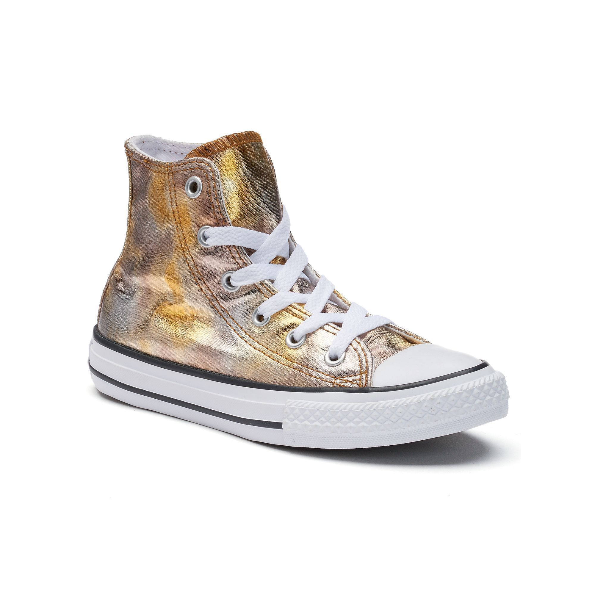 Girls  Converse Chuck Taylor All Star Metallic High Top Sneakers ... 35ad3d0c7