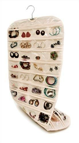 ee1ac2ec030d Closet Complete CANVAS Ultra 80 Pocket Hanging Jewelry Organizer ...