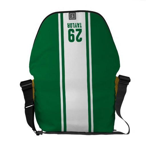 7e57f403214b Shop Red   Gold Stripe Monogram Sports Messenger Bag created by  EnduringMoments.