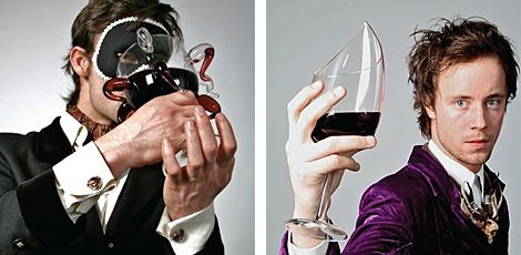 Inspired by the seven deadly sins, London-based designer Kacper Hamilton has created a rather unique set of red wine glasses. His 7 DEADLY GLASSES ($TBA) each embody one of the famous sins (Greed and Wrath shown above), and all come in a mahogany, velvet and brass case.