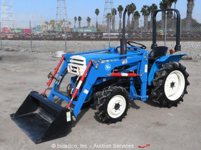 Mitsubishi D1650 Ag Tractor 4wd 3spd Diesel Pto 3 Point Hitch 50 Bucket Bidadoo Tractors Mitsubishi Tractor Trailers