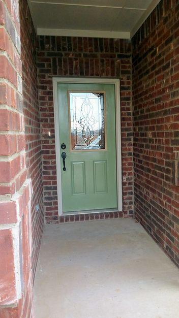 This Ordinary 6 Panel Door Received Western Reflection Door Glass   Windsor.