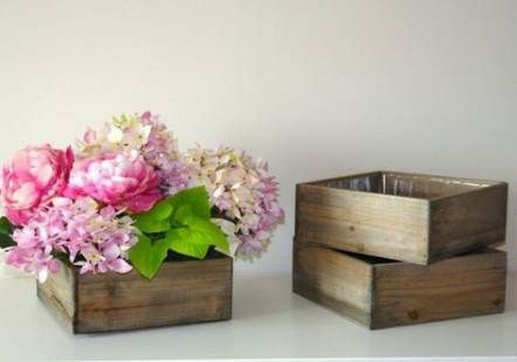 40 Spectacular Wooden Box Ideas For Flower That You Can Try