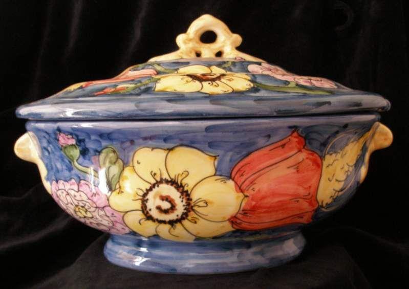 Zuppiera in ceramica di vietri sul mare a vietri sul mare the
