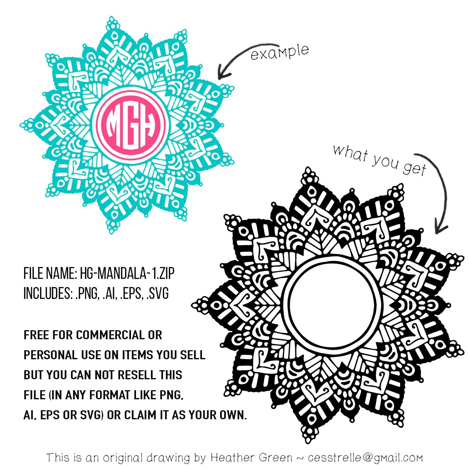 Download Free download ~ commercial use mandala design in png, ai ...