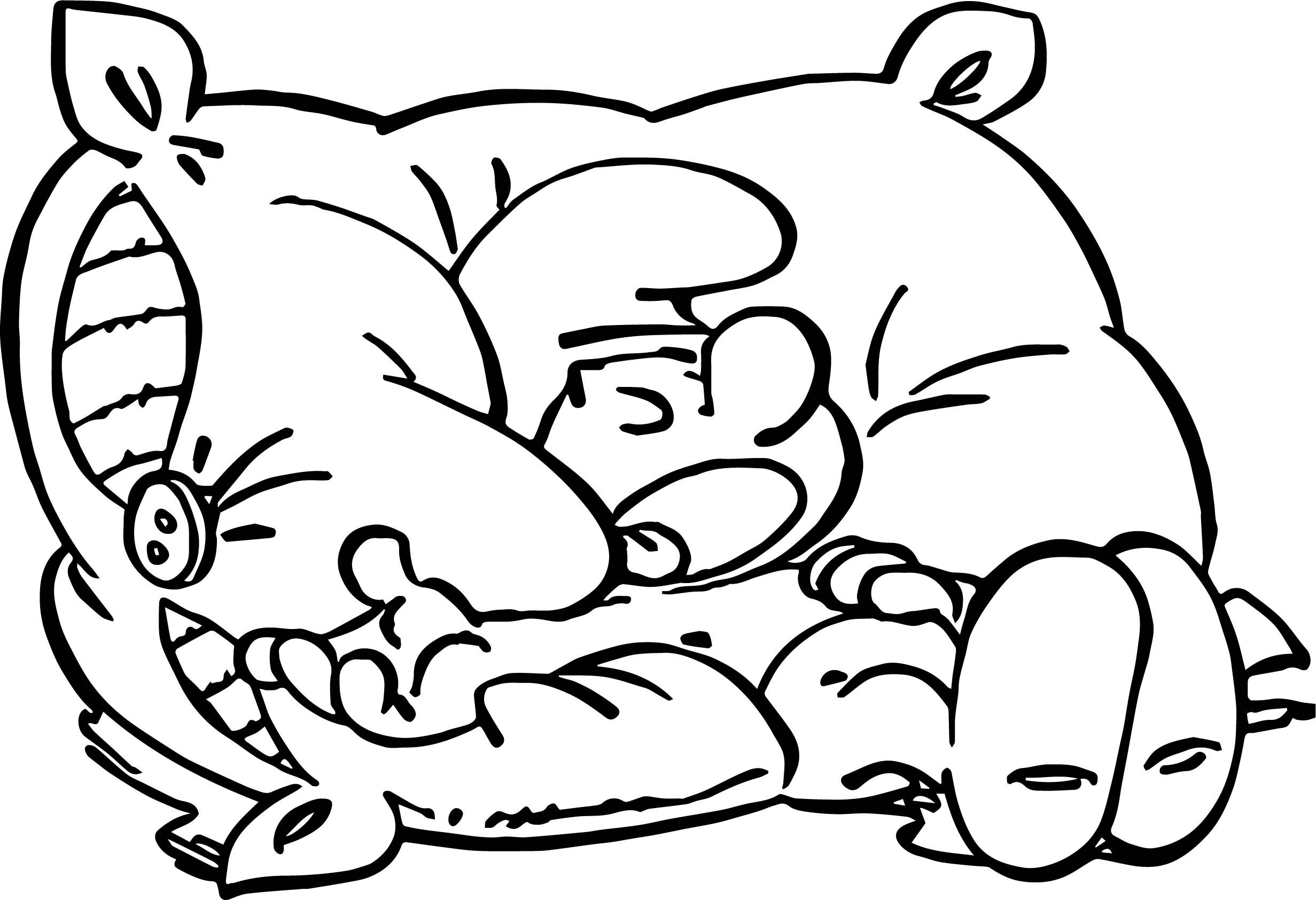 Cool Sleepy Smurf On Pillow Coloring Page Wecoloringpage