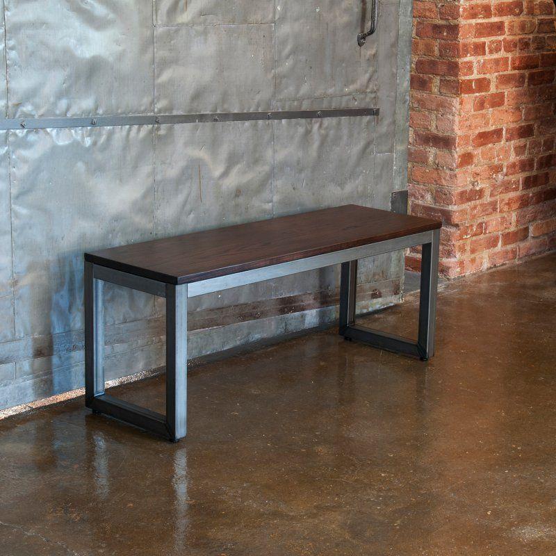 Elan Furniture Loft 42 in. Indoor Dining Bench Ash Onyx - LBA-012-SBAO