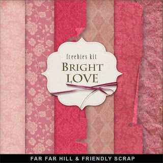 Freebies Background Kit - Bright Love