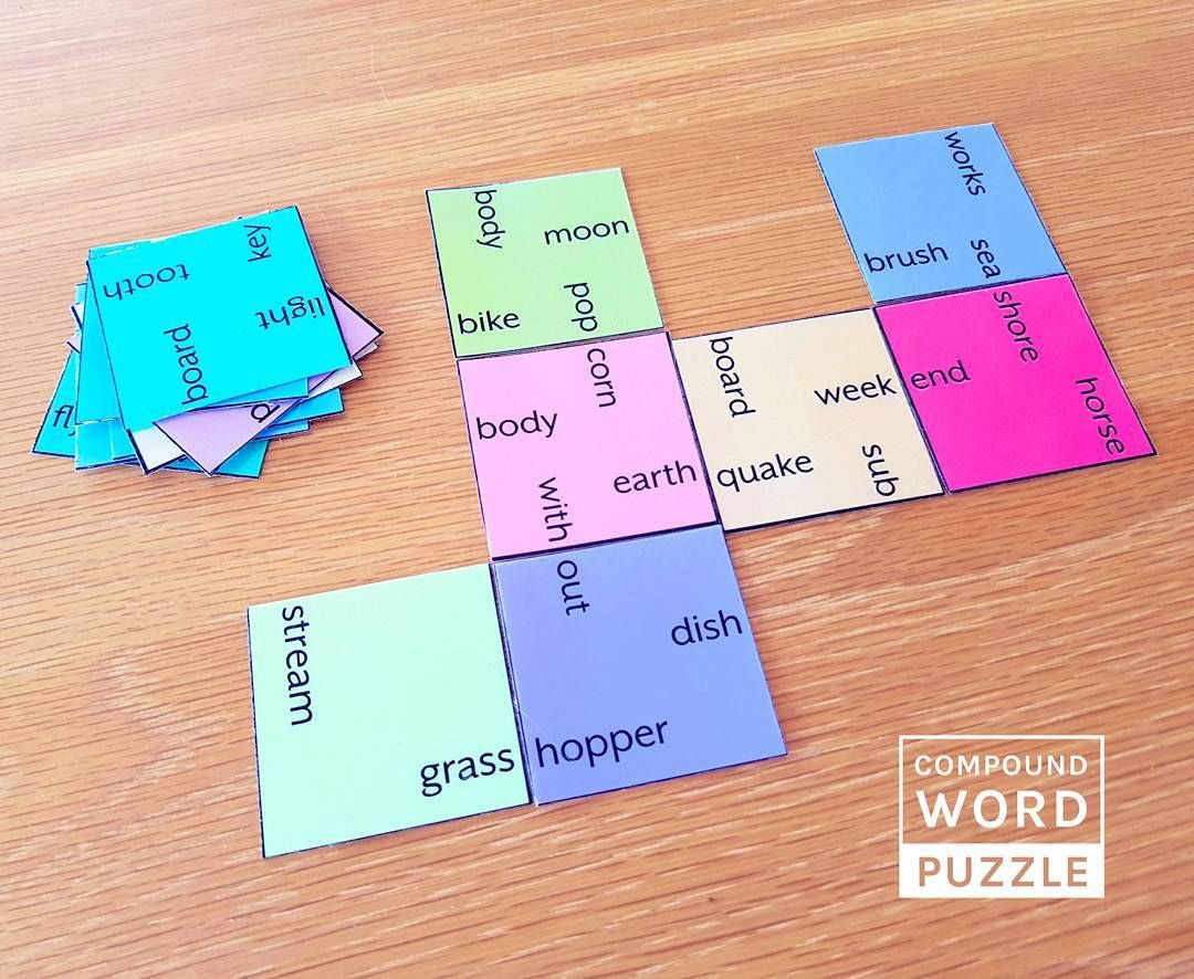 My New Compound Words Puzzle I Ve Just Added It To My Compound Words Bundle So Make Sure You