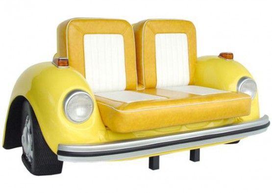 vw bug couch nils pinterest m bel auto m bel und autos. Black Bedroom Furniture Sets. Home Design Ideas