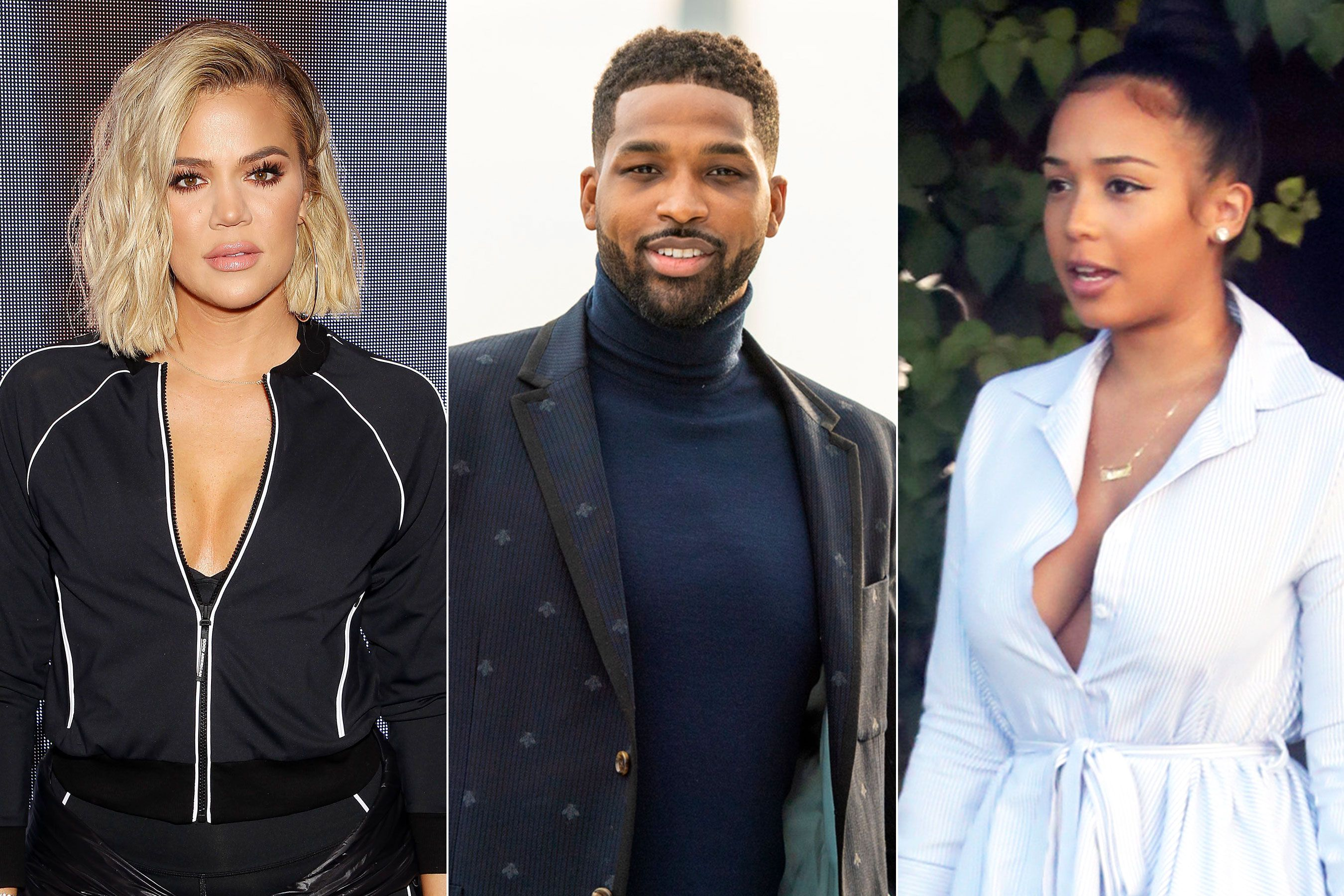Khloe Kardashian Slams Rumor Tristan Thompson Left His Then Pregnant Girlfriend For Her Khloe Kardashian Khloe Tristan Thompson