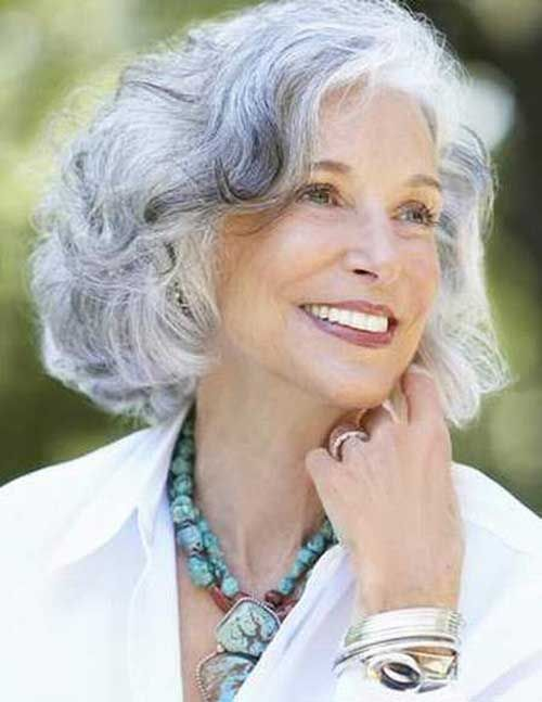 Cly And Nice Short Haircuts For Older Las Grey Hair
