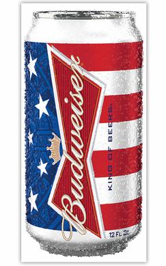 Can Of Budweiser Beach Towel 28 X 58 Budweiser Beer Canning Beach Towel