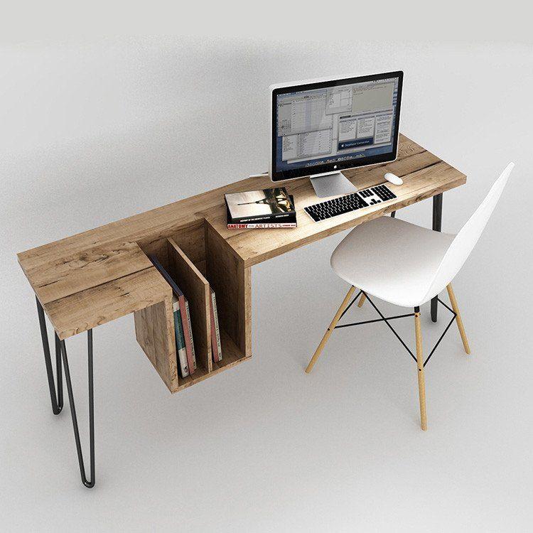 American Vintage Nordic Retro Solid Wood Computer Table Furniture Furniture Design Interior Furniture