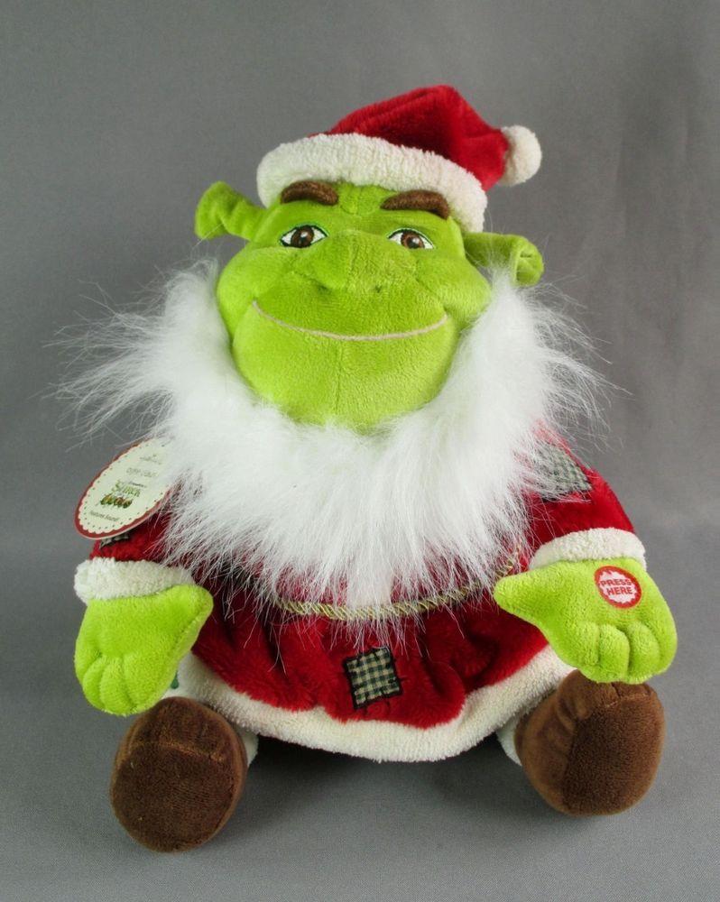 Shrek Christmas.Shrek The Halls Santa Ogre Claus Taking Plush Hallmark