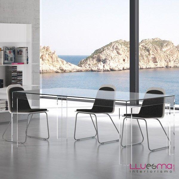 Mesa rectangular Corner. Fiam | Office-CASA | Table, Dining room, Dining