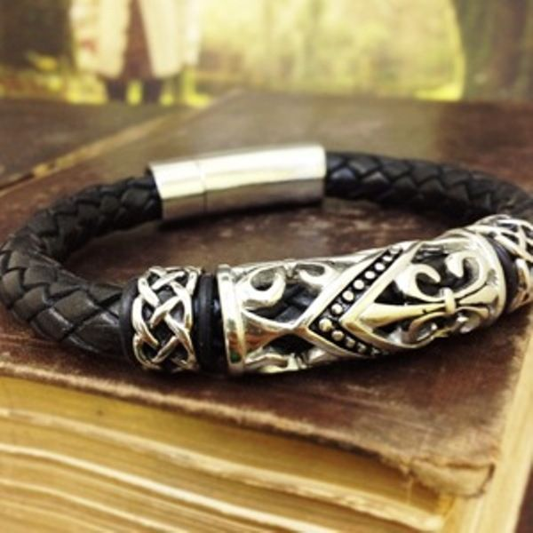 8a7be37a2adbc Celtic Leather Braided Bracelet | Celtic Jewelry | Irish jewelry ...