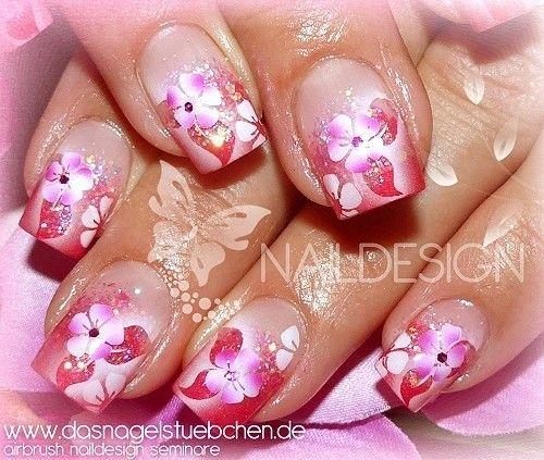 rosa design airbrush nails pinterest n gel airbrush n gel und airbrush bilder. Black Bedroom Furniture Sets. Home Design Ideas
