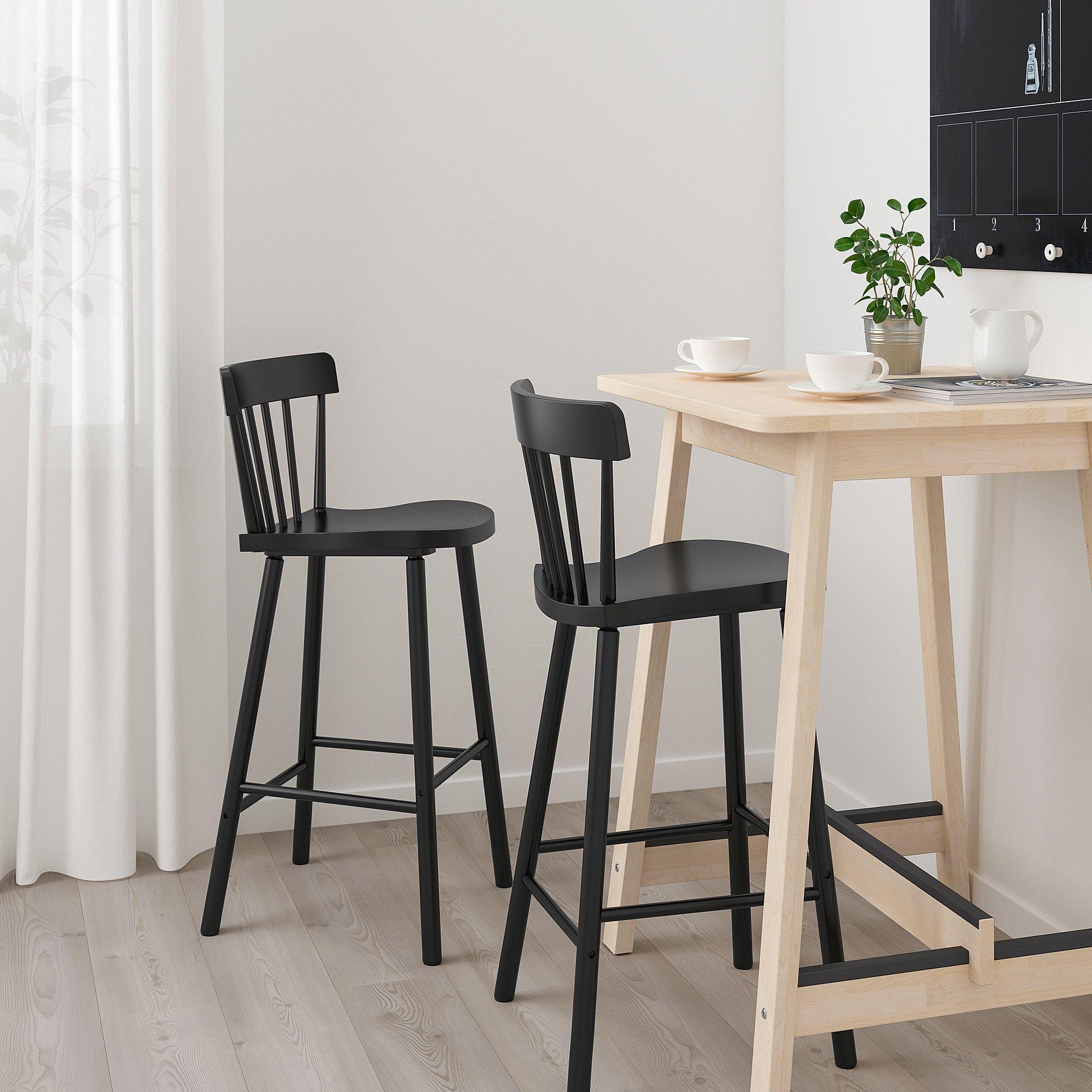 Ikea Norraker Norraryd Birch Black Bar Table And 2 Bar Stools Tabouret De Bar Table Haute Table De Petit Dejeuner