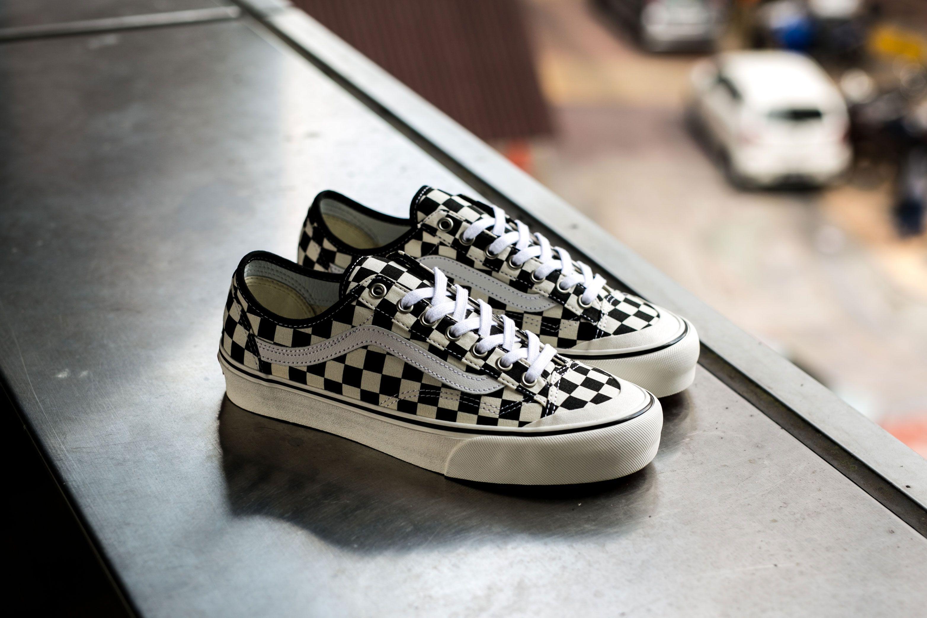 vans style 36 sneakers in checkerboard