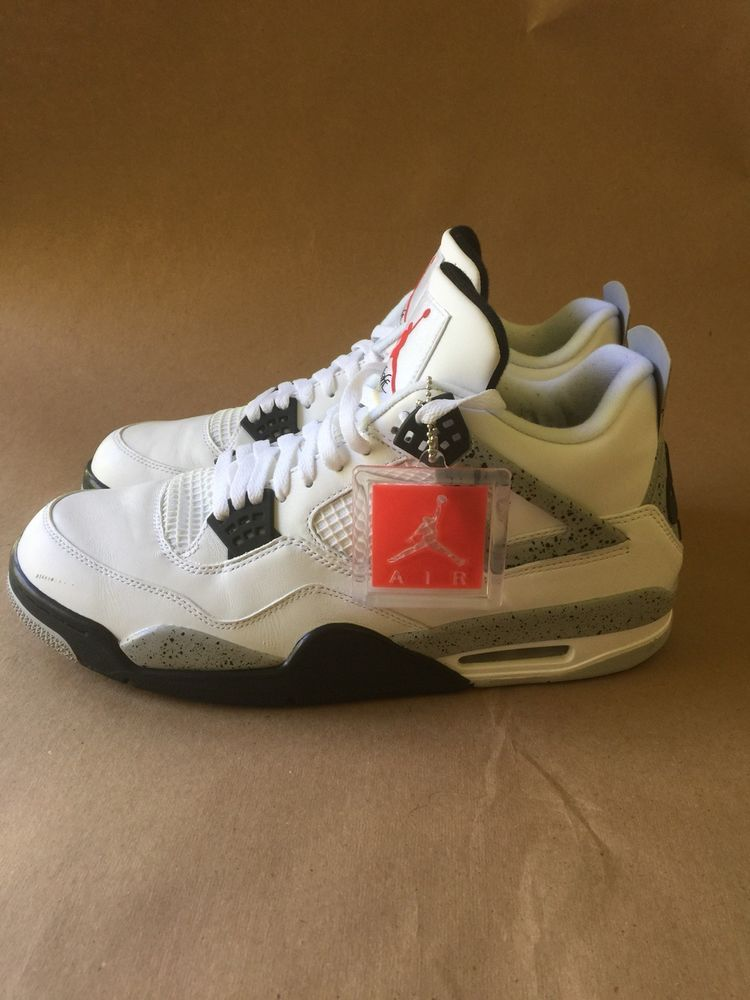 pretty nice 19a2a 006b9 Nike Air Jordan 4 Retro OG White Cement Size 13 Red Black Grey 840606-192   fashion  clothing  shoes  accessories  mensshoes  athleticshoes (ebay link)
