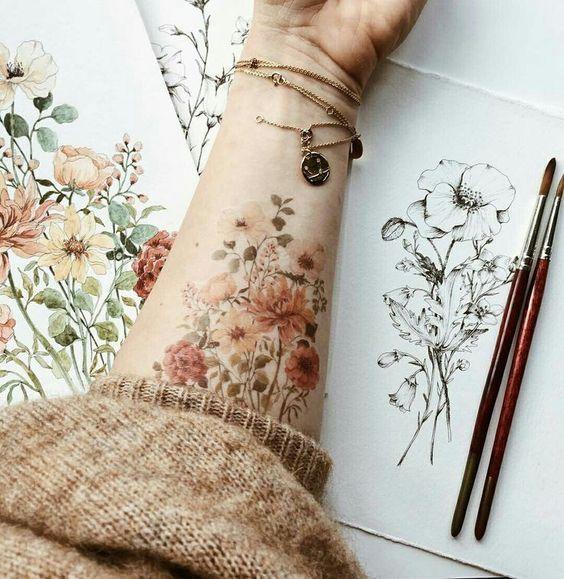 Fl # florespravida Life is an eternal garden with many … – artists  #flowertattoos - diy tattoo images