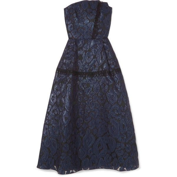Lydney Lace-trimmed Fil Coupé Organza Dress - Navy Roland Mouret Outlet Largest Supplier Real Sale Online Reliable Cheap Price Cheap Sale Pay With Visa Outlet Visit New ragb3Z89