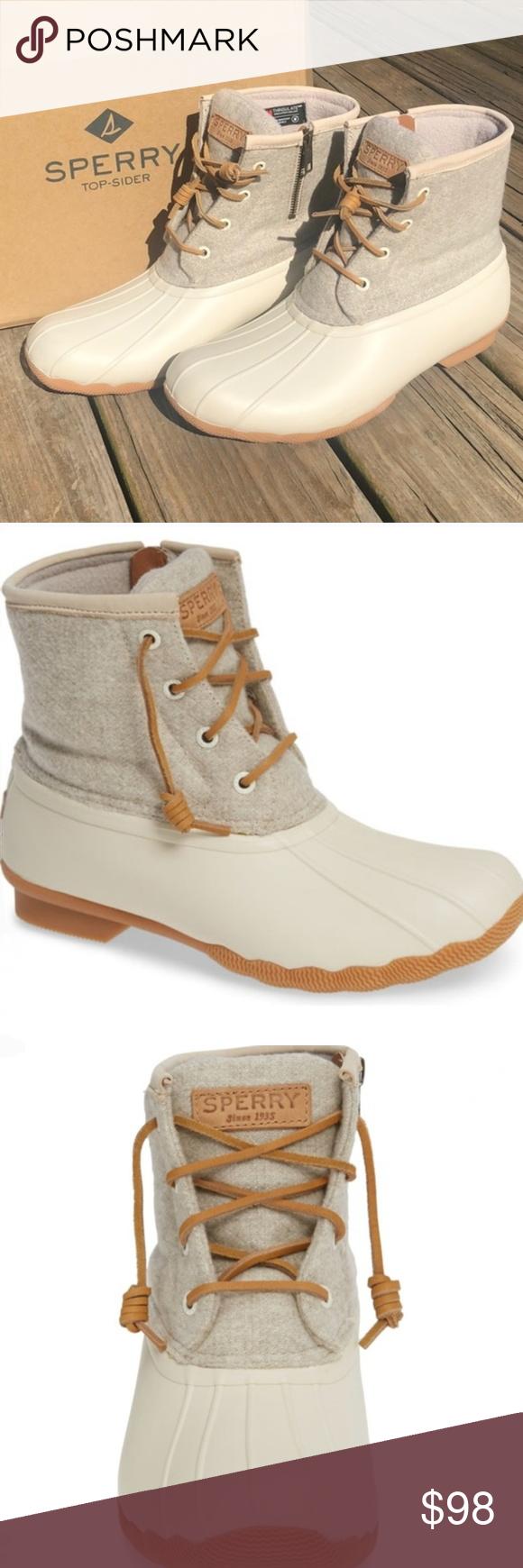 Sperry Saltwater Wool Linen Off White