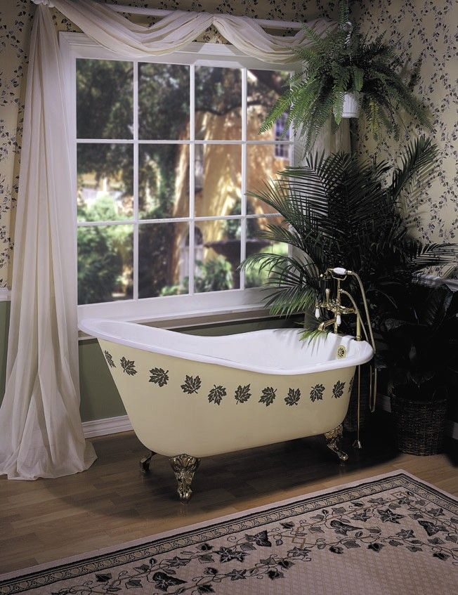 26 stylish bathrooms with clawfoot tubs unique interior styles - Painted clawfoot tub exterior pict ...