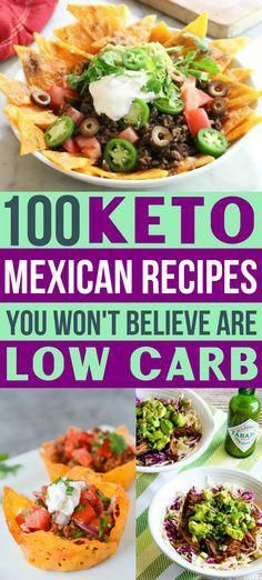 Low Carb Mexican recipes!! Yes, you can have keto Mexican food on your ketogenic diet!!  Low carb tacos, enchiladas, nachos & all your favs!