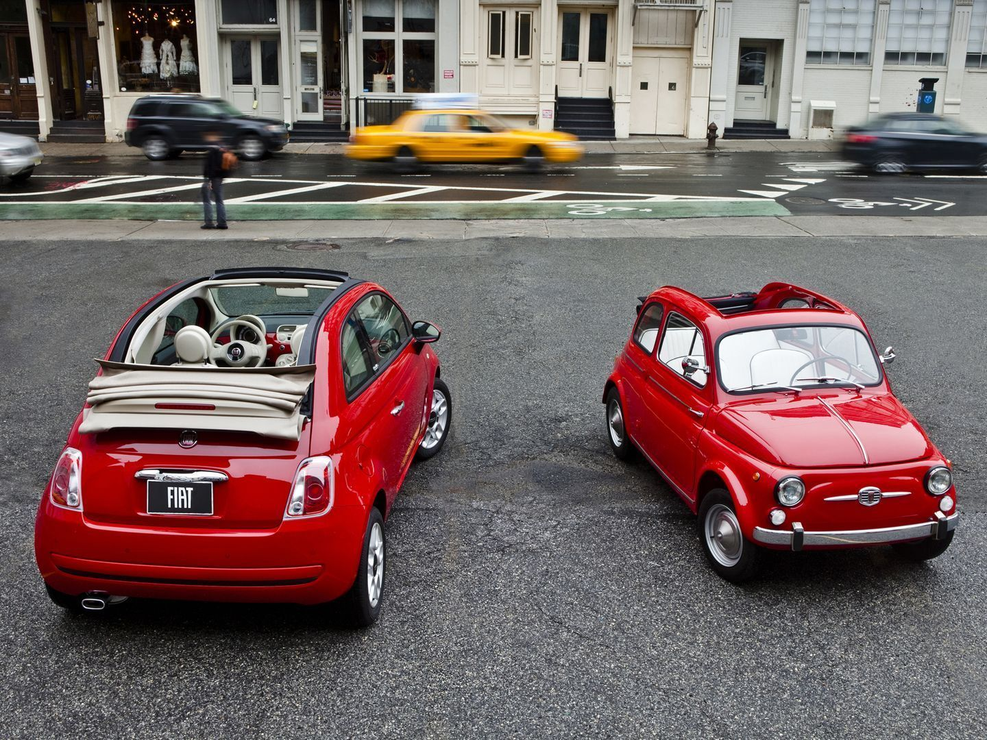 This color fiat 500 commanded a lot of attention at the recent pittsburgh auto show the dash is the same color as the outside when seen in person