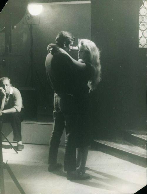 Brigitte and Roger Vadim during the filming of And God Created Woman, 1956.