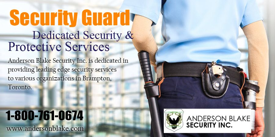 Anderson Security Guard provide best security guard in