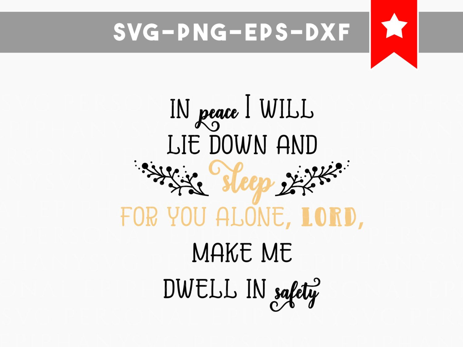 Commercial Quotes Sleep Safe Svg File Bible Quote Svg Christian Quote Svg Bible