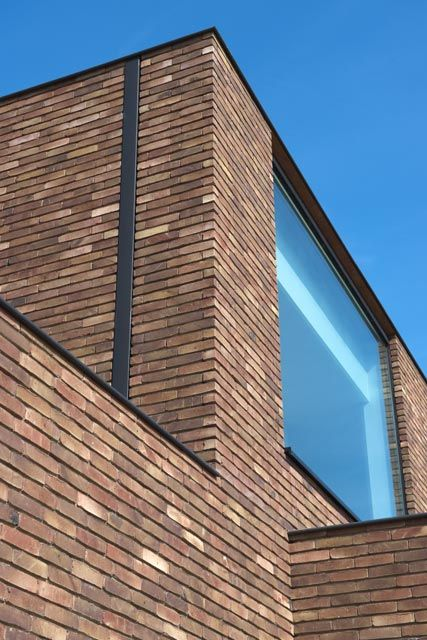 Referenties - Steenfabriek Facade Beek FB RAINBOW ZILVER Brick - pose de lambris pvc exterieur