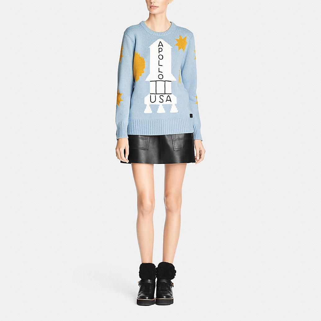 Danny Intarsia Crewneck Sweater Sweaters Crew Neck Sweater Tops Designs [ 1034 x 1034 Pixel ]
