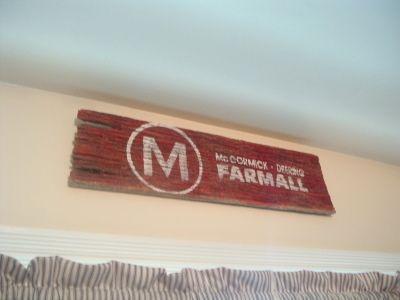 Farmall Barnwood Sign and Easy Peasy Curtains